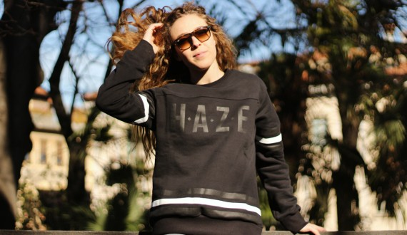 Brooklyn Haze - Armour Black crewneck