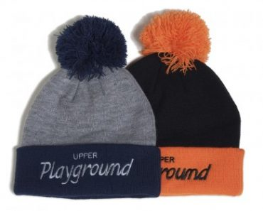 Upper Playground Mickey pom beanie