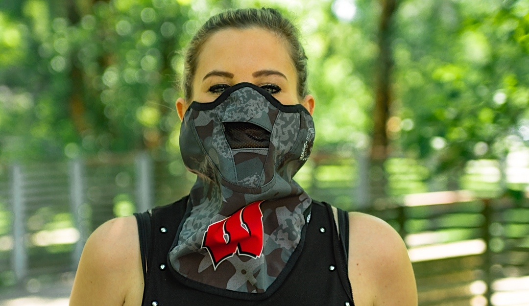 686 x '47 wisconsin union face mask