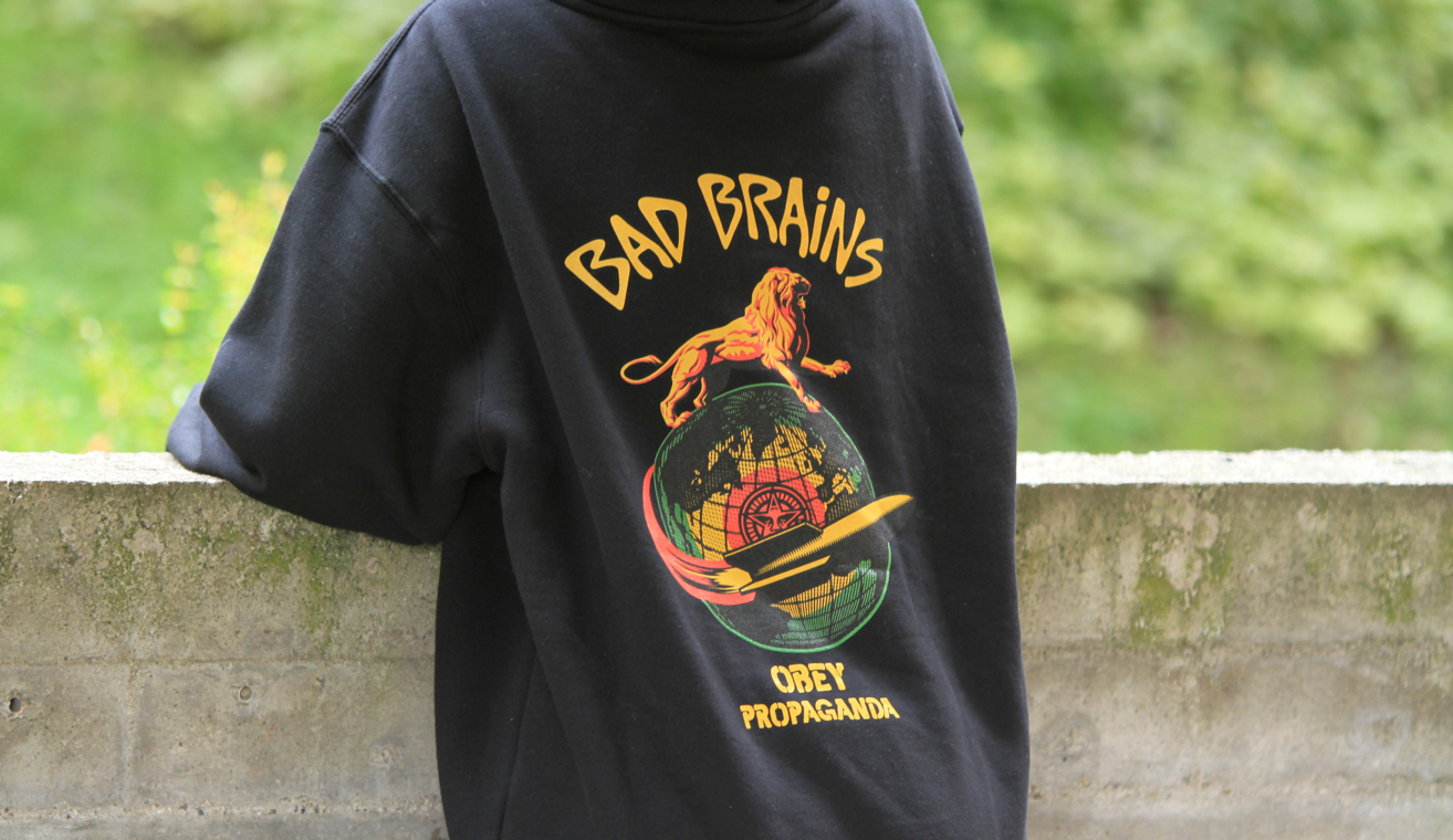 Obey x Bad Brains - Rocket Hooded fleece by Blue Distribution